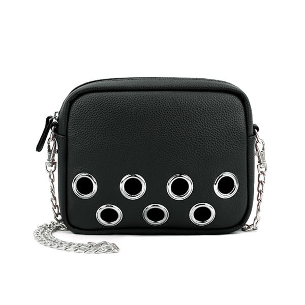 eb127f6f121d Olivia Miller Gwynn Faux-leather and Polyester Large Grommet Crossbody Bag