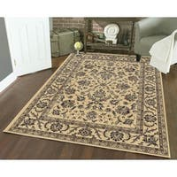 Artisan Classic Oriental Ivory Area Rug - 7'9 x 11'