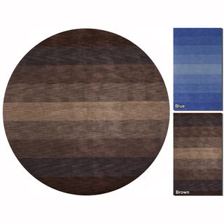 "Artist's Loom Hand-Tufted Contemporary Solid Pattern Wool Rug (7'9"" Round)"