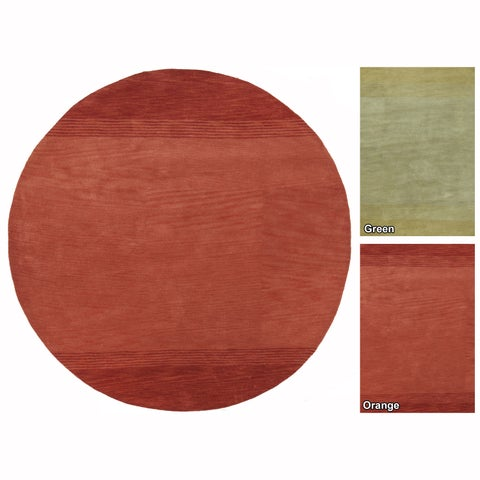 """Artist's Loom Hand-Tufted Contemporary Solid Pattern Wool Rug (7'9"""" Round)"""