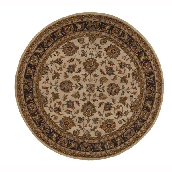 Fine Round Persian Bidjar Area Rug Hand Knotted Wool And: Shop Artist's Loom Hand-Tufted Traditional Oriental