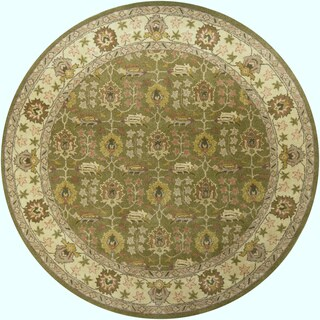 """Artist's Loom Hand-Tufted Traditional Oriental Pattern New Zealand Wool Rug (7'9"""" Round)"""