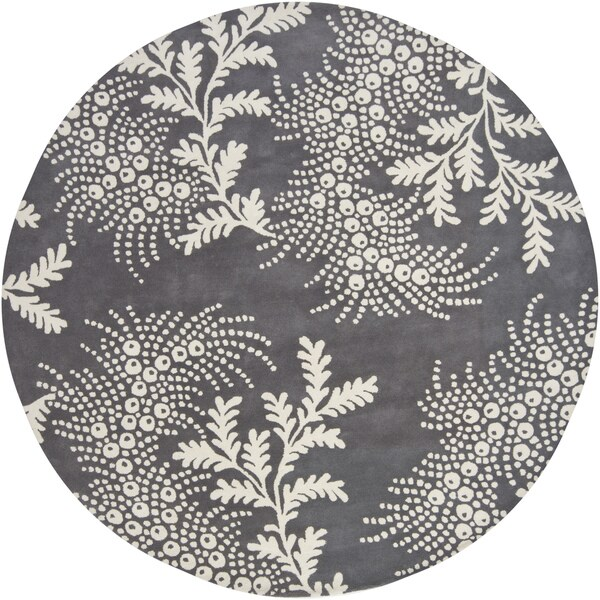 """Artist's Loom Hand-Tufted Contemporary Graphic Pattern New Zealand Wool Rug (7'9"""" Round)"""