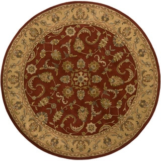 "Artist's Loom Hand-Tufted Traditional Floral Pattern Wool Rug (7'9"" Round)"