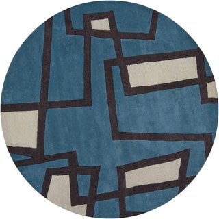 "Artist's Loom Hand-Tufted Contemporary Abstract Pattern New Zealand Wool Rug (7'9"" Round)"