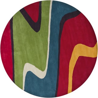 Good Artistu0027s Loom Hand Tufted Contemporary Abstract Pattern New Zealand Wool Rug  (7u00279