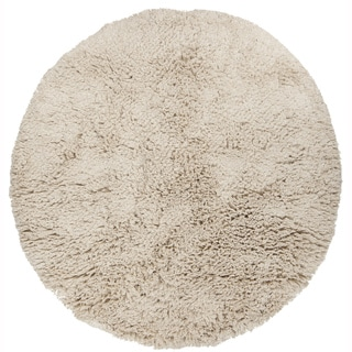 """Artist's Loom Hand-Woven Casual Solid Pattern New Zealand Wool Shag Rug (7'9"""" Round)"""