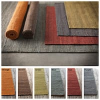 "Artist's Loom Flatweave Contemporary Solid Pattern Jute Rug (7'9""x10'6"")"