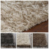 "Artist's Loom Hand-Woven Contemporary Solid Pattern Shag Rug (7'9""x10'6"")"