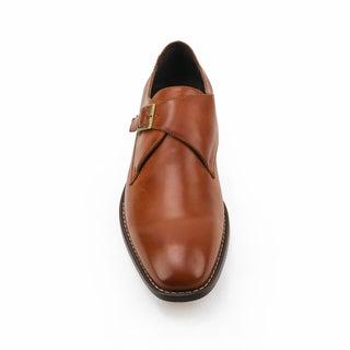 Xray Solo Brown Leather Monk Strap Oxford Shoe