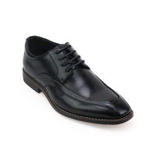 Xray Men's Black/Tan Polyurethane Leather Roller Oxford Shoes
