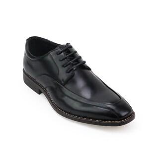 Xray Men's Black/Tan Polyurethane Leather Roller Oxford Shoes
