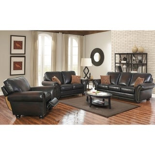 ABBYSON LIVING Braxton 3-piece Leather Sofa Set