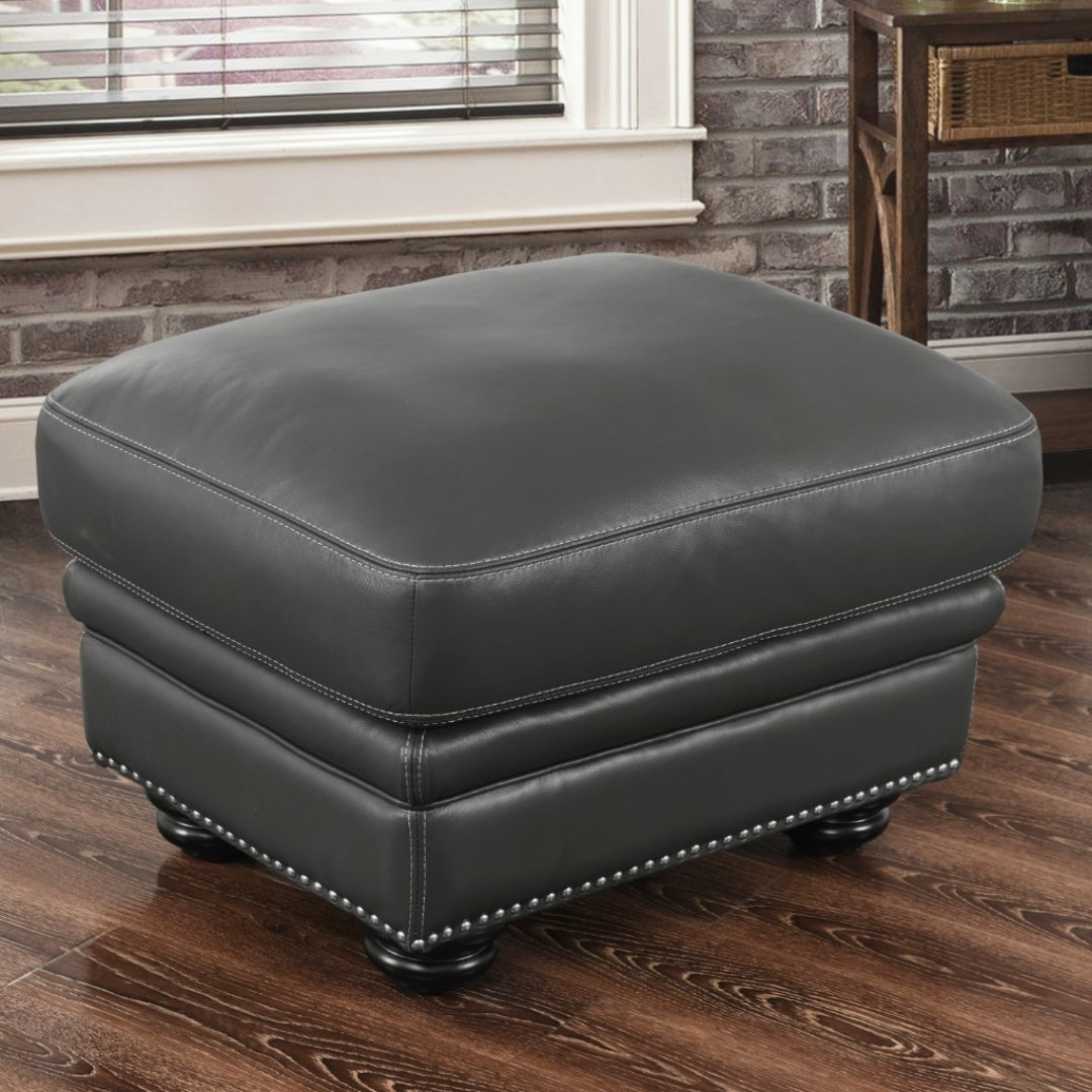 Terrific Buy Grey Leather Ottomans Storage Ottomans Online At Squirreltailoven Fun Painted Chair Ideas Images Squirreltailovenorg