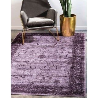 Turkish La Jolla Purple Polypropylene Rug (3'2 x 5'2)