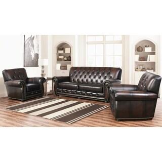ABBYSON LIVING Sonoma Tufted Leather 3 Piece Set