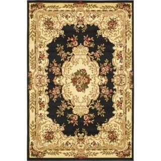 Versailles Black Rug (4' x 6')