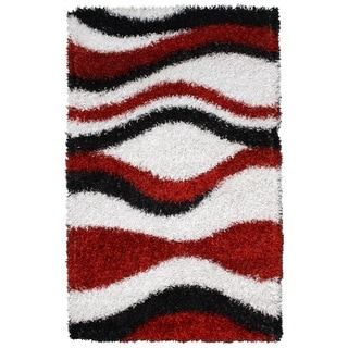 Noble House Inc Pearl Multicolored Polyester Shag Rug (8 x11')