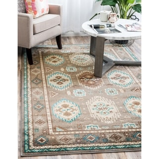 Grey Polypropylene Tribeca Rug (4'x6')