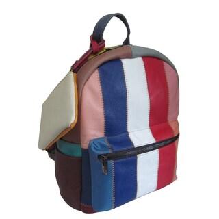 Amerileather Berne Rainbow Leather Backpack