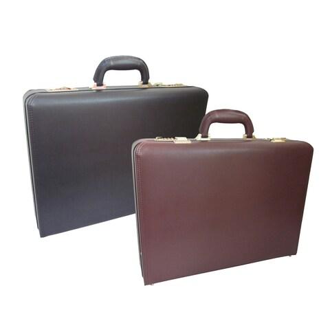 Amerileather Caldwell Microfiber Faux Leather Executive Attache Briefcase