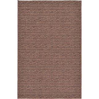 Brown Outdoor Rug by ( 3' 2 x 4' 11 )