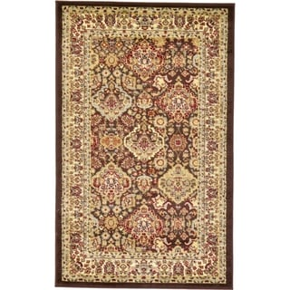 Brown Polypropylene Agra Rug (3'2 x 5'2)