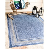Unique Loom Soft Border Outdoor Area Rug - 4' x 6'