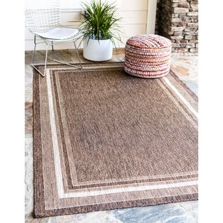 Turkish Brown Polypropylene Outdoor Rug (4' x 6')
