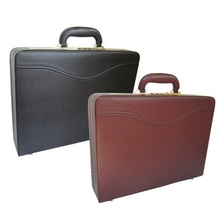 Amerileather Expandable Auden Executive Microfiber Faux Leather Attache Case Briefcase