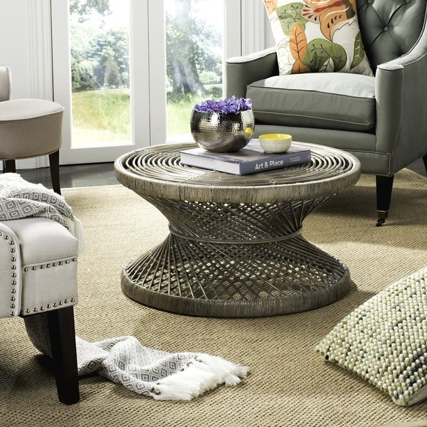 Lowes Wicker Coffee Table: Shop Safavieh Grimson Large Bowed Coffee Table