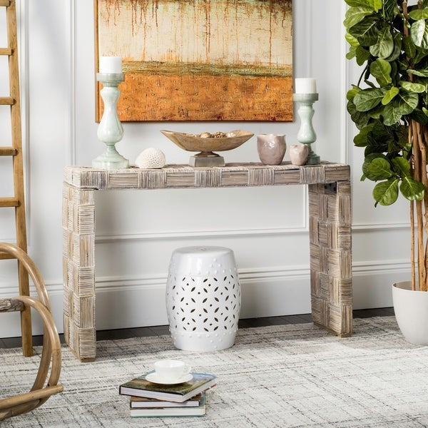 Safavieh Adkin Rattan Console Table. Opens flyout.