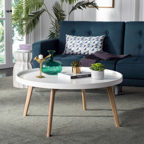 "Safavieh Mid-Century Rue Round Coffee Table - 35.4"" x 35.4"" x 16.5"""