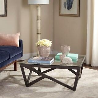 Safavieh Mid-Century Ralston Glass Top Coffee Table