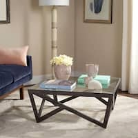 Safavieh Mid-Century Ralston Glass Top Coffee Table