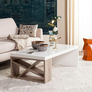 Safavieh Carlton Scandinavian Side Storage Lacquer Coffee Table