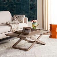Safavieh Arleana Cross Leg Coffee Table & Tray