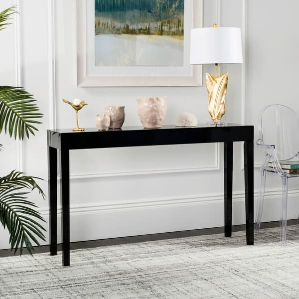 Safavieh Mid Century Kayson Scandinavian Lacquer Console Table 51 2 X 13 4 X 31 5 On Sale Overstock 13339550