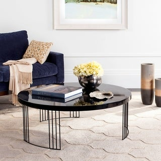 "Safavieh Mid-Century Keelin Scandinavian Lacquer Coffee Table - 37.4"" x 37.4"" x 13.8"""