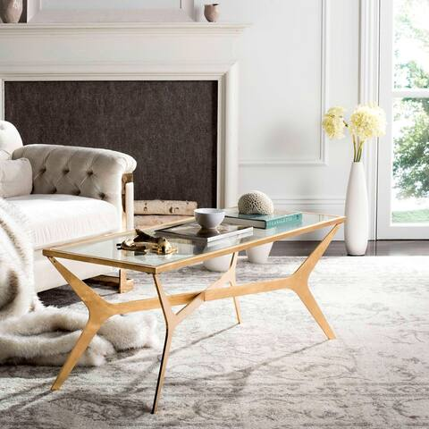 "SAFAVIEH Edythe Gold Leaf Coffee Table - 51"" x 19.5"" x 19.8"""