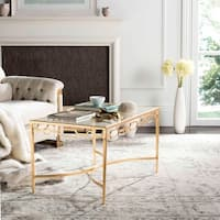 Safavieh Lura Gold Leaf Retro Coffee Table