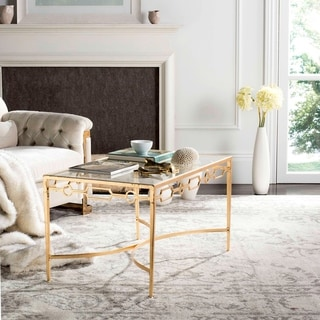 Link to SAFAVIEH Lura Gold Leaf Retro Coffee Table Similar Items in Living Room Furniture