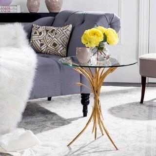 Safavieh Bessi Gold Leaf Side Table