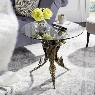 Safavieh Sierra Gold Leaf Bouquet Side Table