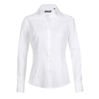 Dolce & Gabbana Women's White Cotton Blend Button Up Blouse