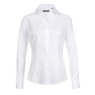 Dolce & Gabbana Women's White Cotton Blend Button Up Blouse