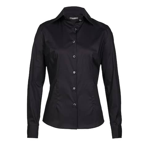 Dolce & Gabbana Women's Black Cotton Button-up Blouse