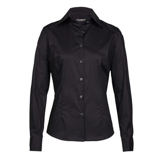 Dolce & Gabbana Women's Black Cotton Button-up Blouse