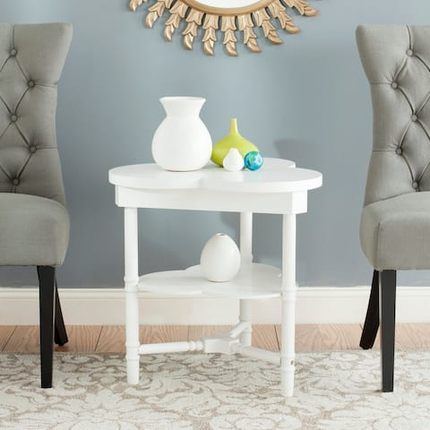 Safavieh Clover End Table / White - 0