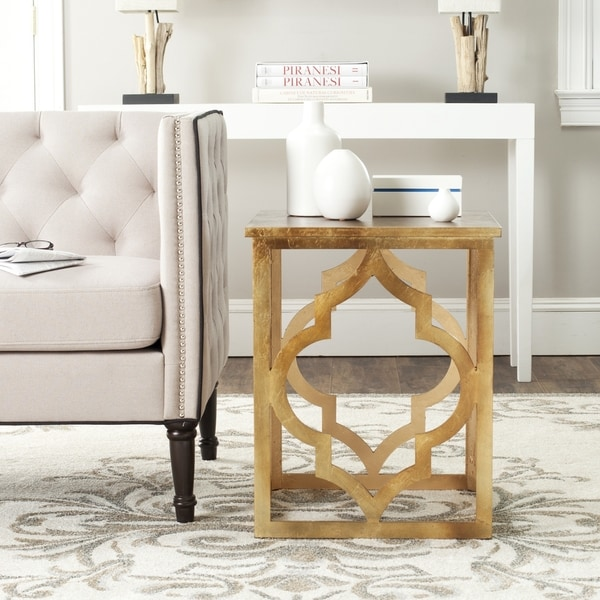 Shop Safavieh Milo Trellis Gold Leaf End Table 18 8 Quot X 18 8 Quot X 23 Quot On Sale Free Shipping